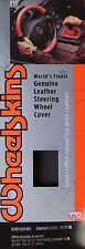 Wheelskins - Original CHARCOAL Leather Steering Wheel Cover Size C - NIB