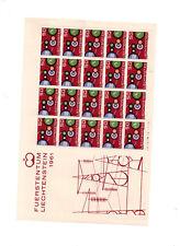 Europa feuille entière neuf ssch Liechtenstein 1961 et 1962