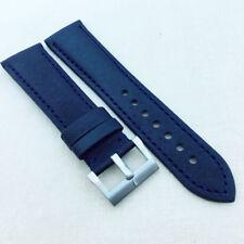 23mm 120/80mm Black Blue Carbon Leather Band 20mm Spring Bar Buckle For JB BP