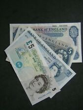 ENGLISH FIVE POUND NOTE £5 - 1957 to 2011 - Choose your cashier