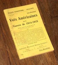voix américaines sur la guerre de 1914-1915 vol.III les neutres