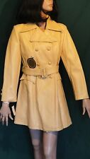 NOS Ladies Coat by Dana Deb Vinyl Double Breasted Styled in Italy 12 B38