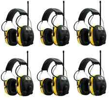 (6) PELTOR WORKTUNES Digital AM FM MP3 Radio HEADPHONES Hearing Ear PROTECTION
