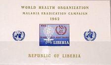 LIBERIA 1962 Block 24 S/S C110 WHO drive eradicate Malaria Mücke Medicine MNH