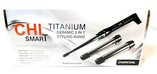 CHI SMART TITANIUM CERAMIC CERAMIC 3 IN 1 STYLING WAND CHARCOAL NOB