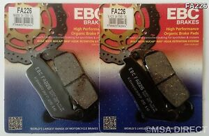 EBC Organic FRONT Brake Pads Fits TRIUMPH TIGER 800 (2011 to 2018) TO VIN 855531
