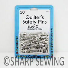 """COLLINS QUILTERS SAFETY PINS - SIZE 3 ( 2"""" LONG ) 50 EACH # C133 133"""