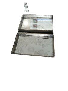 Set of 2 Decorative Mirror Trays