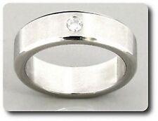 ANELLO DA UOMO ACCIAIO & diamante CZ taglia 51 & 54