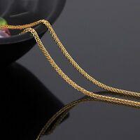 Authentic AU750 18K Yellow Gold Necklace Women Foxtail Chain 45cm=18inch