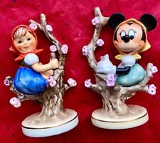 "New Listing Hummel Figurine Set "" Springtime� Goebel Celebrates 50 Years Of Disney Magic"