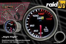 Raid hp Nightflight Öltemperatur Anzeige Zusatz Instrument 52mm Schwarz Glas