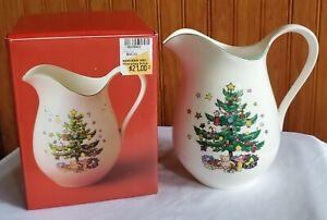 Nikko Happy Holidays/Christmastime Pitcher Christmas Tree 1 Quart