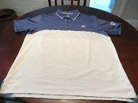 Blue Adidas Grand Traverse Logo Golf Shirt Size XL