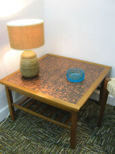 Retro Teak Coffee Table with hammered copper top, Northants