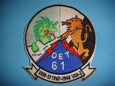 VIETNAM WAR PATCH US NAVY DET 61, VAW-13 And VAH-2 ONBOARD USS RANGER 1967-68
