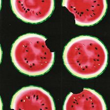 Watermelon Slices Take a Bite By The yard cotton print Fabric