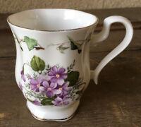1 Coffee Tea Mug Cup Fine Bone China Lane End Pottery England Purple Flowers ?