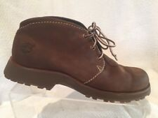 Timberland Brown Nubuck Leather Lace Up Ankle Boot Shoes Womens 10 Casual Chukka