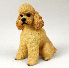 Poodle Figurine Hand Painted Statue Apricot Sportcut