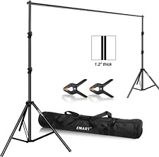 Emart Photo Video Studio 9.2 x 10ft Heavy Duty Background Stand Backdrop Support