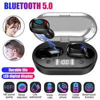Bluetooth LED Headset TWS Wireless Earphone Bass Stereo Headphone In-Ear Earbuds