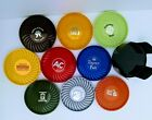 Vtg+9+Round+Plastic+Advertising+Coasters+w+Holder+Contemporary+by+Ritepoint+USA