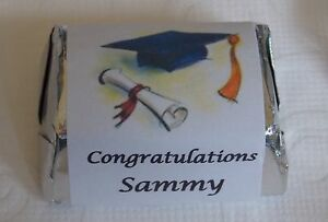 30 2021 Graduation Hershey Nugget Wrappers / Labels - Personalized-Party Favors