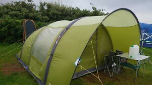 Capri 500 Vango Airbeam Tent and extension awning. 5 man tent two bedroom.