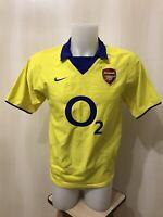 Arsenal London 2003/2004 Away Size S Nike football soccer shirt jersey maillot