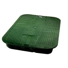 14 in. x 19 in. Icv Green Overlapping Valve Box Cover Garden Plant Water Care