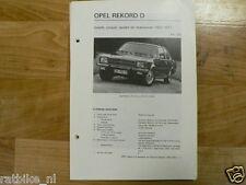 O12-OPEL REKORD D,COACH,COUPE,SEDAN EN STATIONCAR  1972