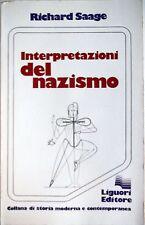 RICHARD SAAGE INTERPRETAZIONI DEL NAZISMO LIGUORI 1979