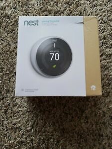 Google Nest Smart Learning Thermostat - Stainless Steel
