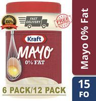 Kraft Mayo Fat-Free, 15 fl oz Jar (6 Pack/12 Pack)