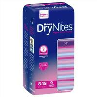 Huggies DryNites Girl 8+ Years 9 Pack Slim Design Taller Leak Guards