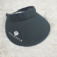 Kate Lord Golf Visor Hat Black With White Embroidering Peninsula Euc