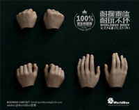 """WorldBox 1/6 Man Hand Model Action Figure Body 3 Pairs For 12"""" Male Body"""
