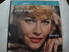 PATTI PAGE INDISCRETION VINYL LP 1959 MERCURY RECORDS AUTUMN LEAVES, SMILES, EX