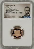 2020 S Lincoln Cent NGC PF69RD Ultra Cameo First Day of Issue FDOI