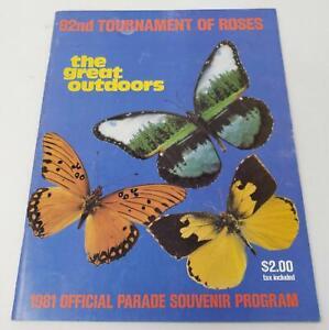 1981 Tournament of Roses Parade Program Great Dr. Pepper & Baskin Robbins Ad