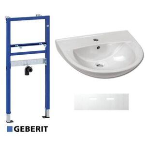 Geberit Duofix Basic Waschtisch Vorwandelement Waschbecken 60 cm Schallschutz