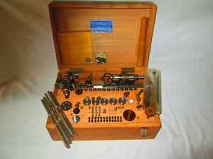 LEINEN Uhrmacher Drehmaschine mit viel Zubehör