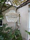 Vintage Hanging Swag Cowrie Sea Shell Light Lamp Hippie Boho 16x12 EUC