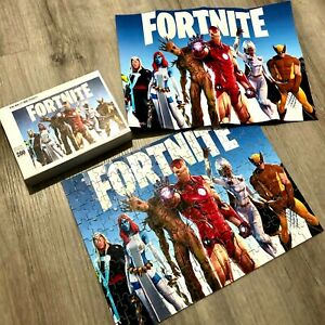 200 Piece Fortnite Game Avengers Jigsaw Puzzle Toys Games Gift Boys 35x25cm