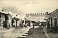 Kairouan Qairawān Tunesien Tūnisiyya ~1910 Boulevard Sadiki Straße Einheimische