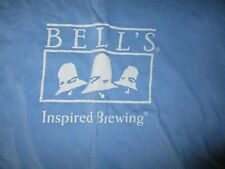 Blue Long Sleeve Bell'S Brewery Unspired Brewing Shirt Xl Kalamazoo Mich Beer