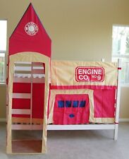 Firehouse Tent Set Red Color Curtain & Top Tent Fits Most BunkBed