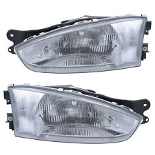 Headlights Front Lamps Pair Set For 97 02 Mitsubishi Mirage Coupe Left Amp Right Fits 1999 Mitsubishi Mirage