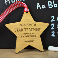 Personalized Teacher Leaving Star Gift - Unique End of School gift For Teacher